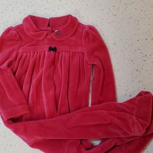 Ralph Lauren hot pink velour footies